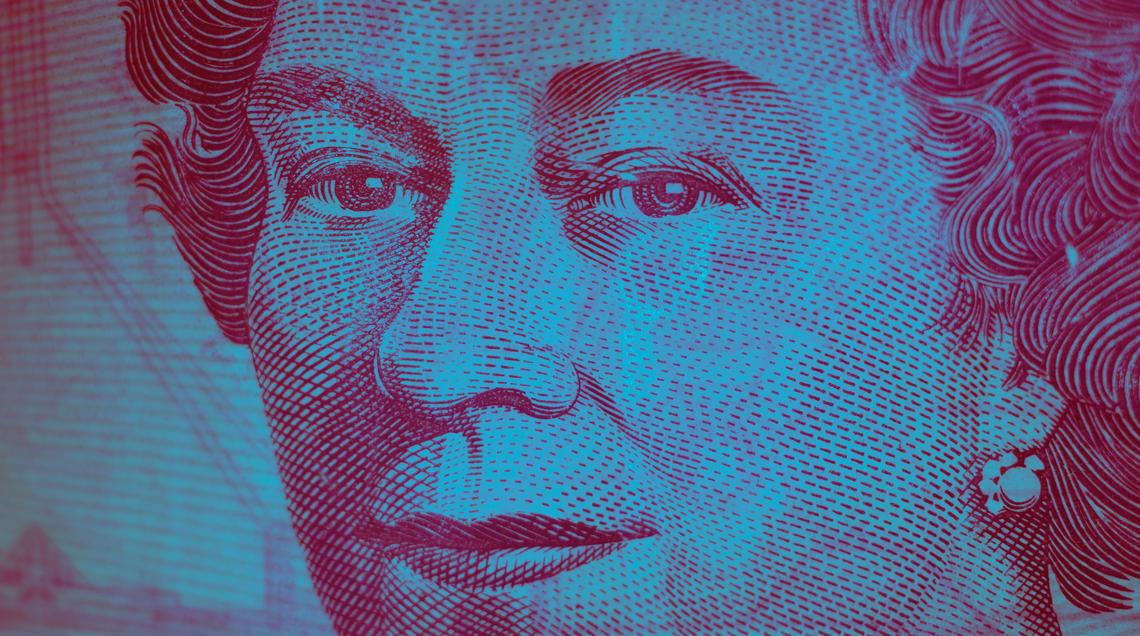 Close-up photo of the Queen on Canadian money