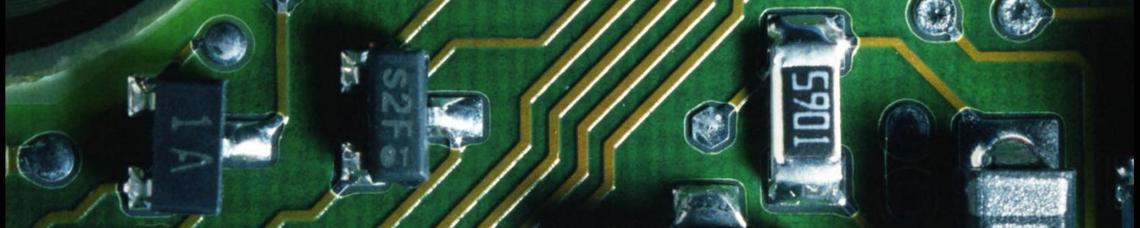 Image of a closeup of a computer circuit board