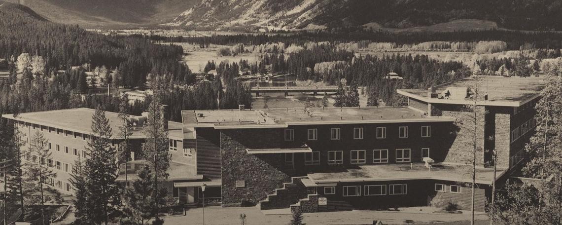 An archive photo of a Banff building