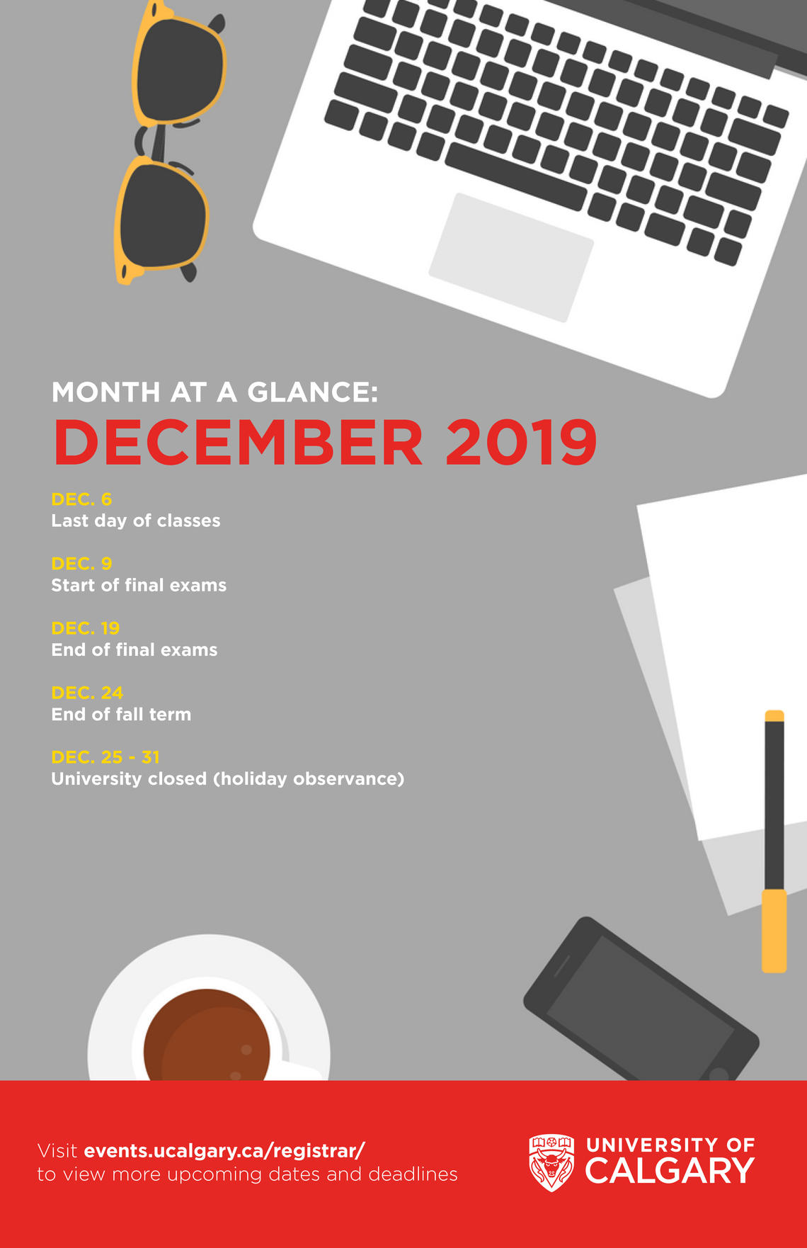 December at a glance