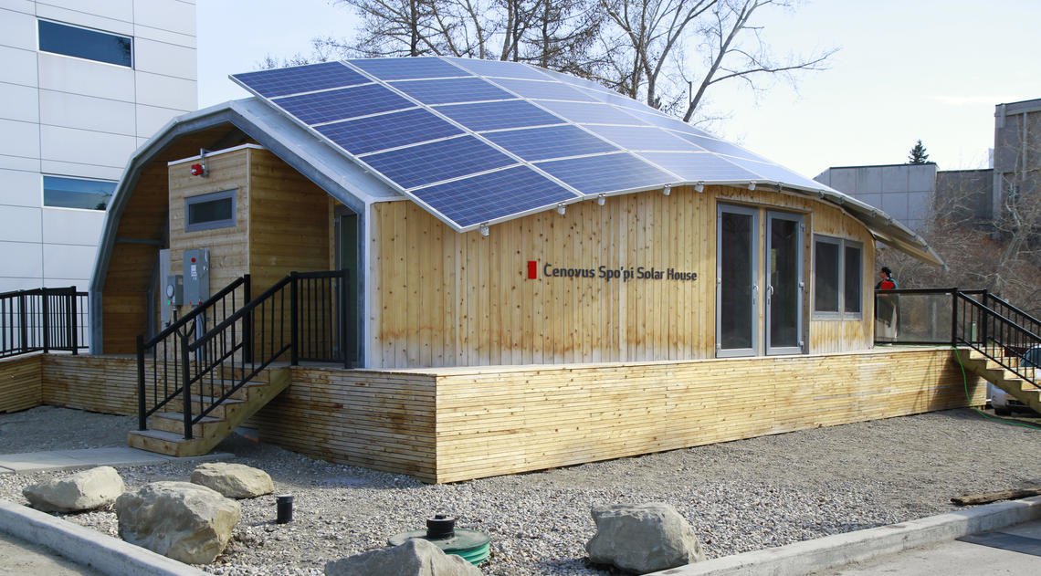 Solar home on campus