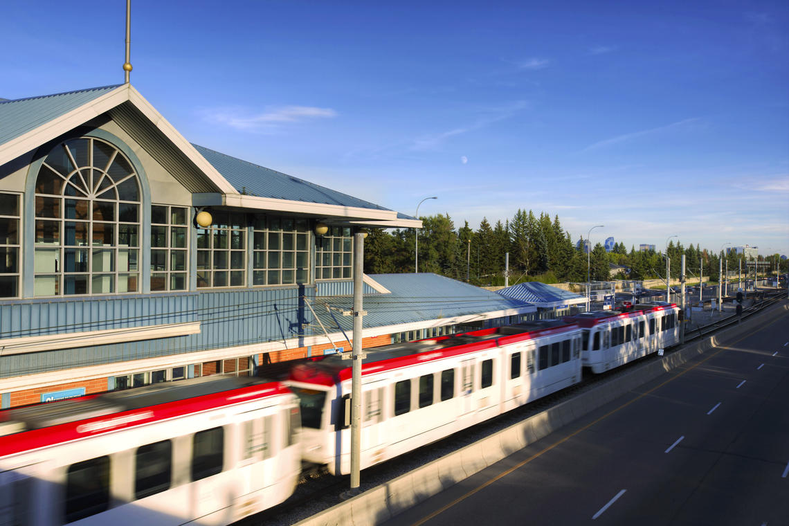 the University CTrain station