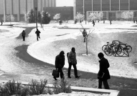 campus in winter