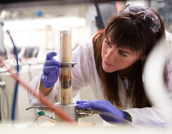 A UCalgary researcher works in her lab