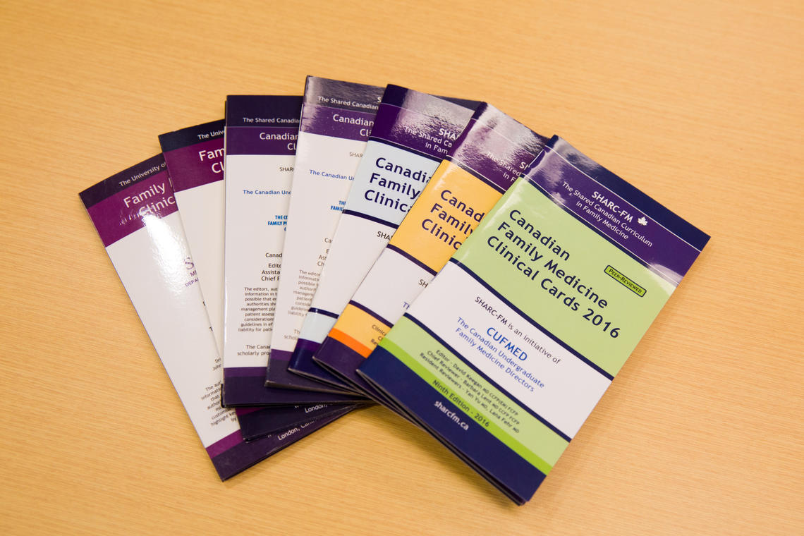 The highly organized and densely packed clinical cards are a key component of the open-education resource.