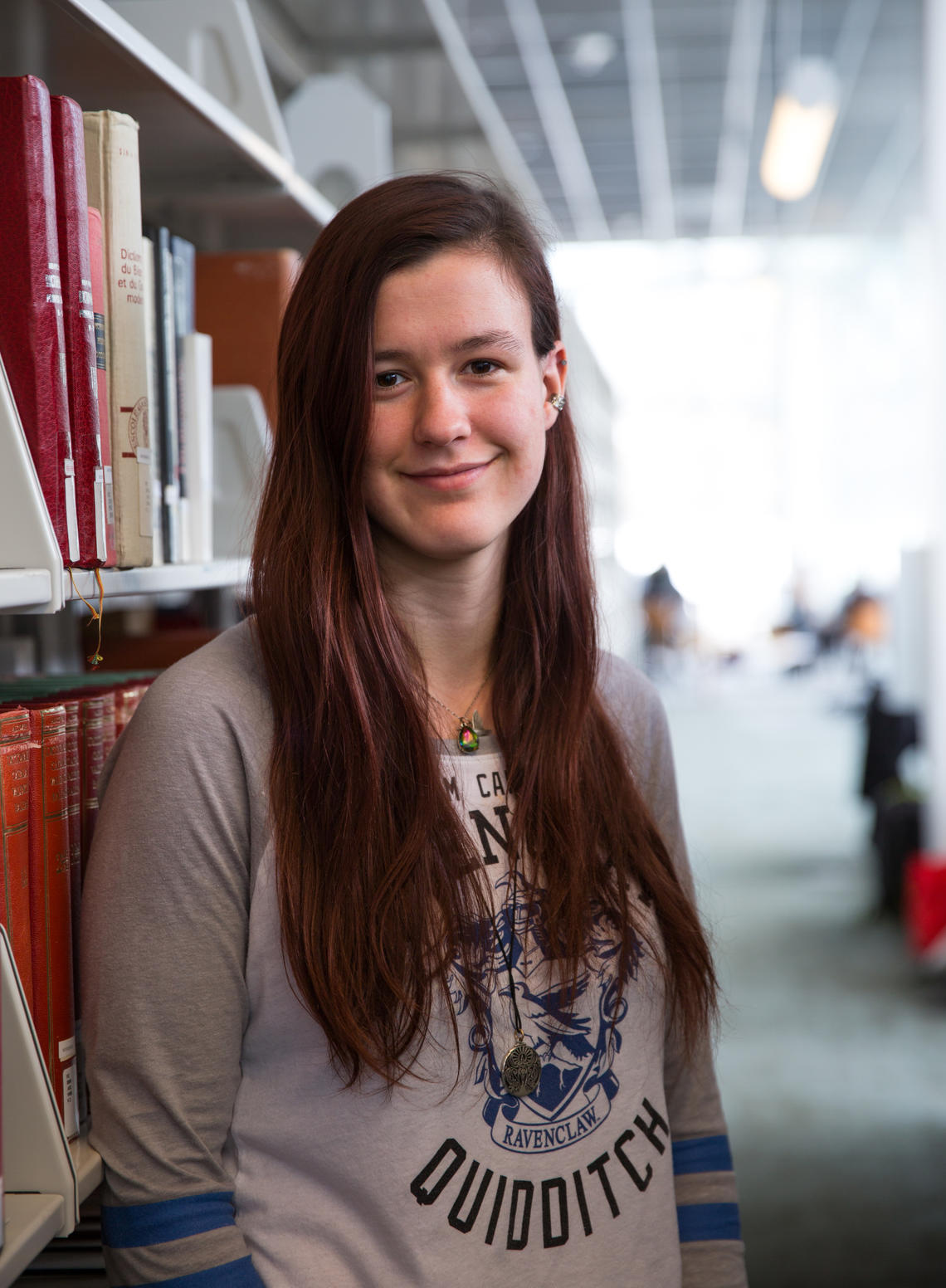 Kate Anderson's interest in analyzing old and rare books got a boost from PURE, the Program for Undergraduate Research Experience.