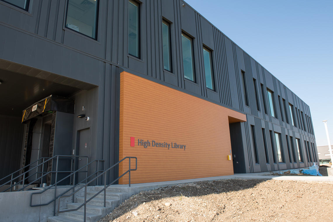 The expansion of the High Density Library added 4,500 square metres of storage and processing space.