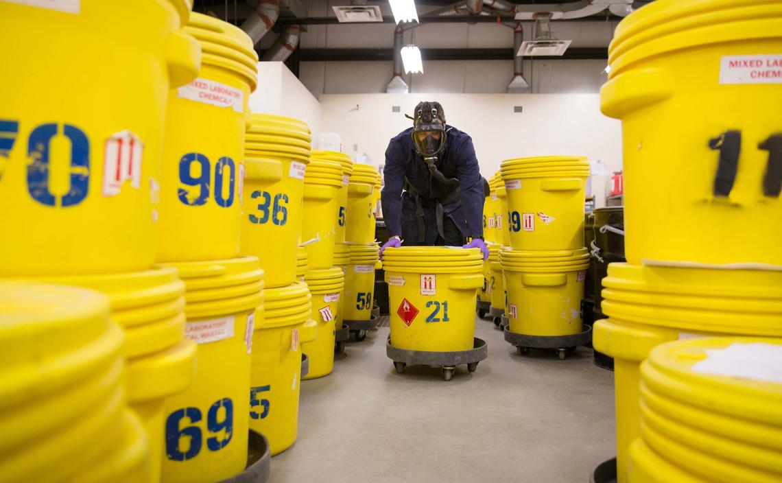Hazmat Services at UCalgary plays a critical role in keeping our community safe from potentially harmful waste produced in labs and medical clinics.