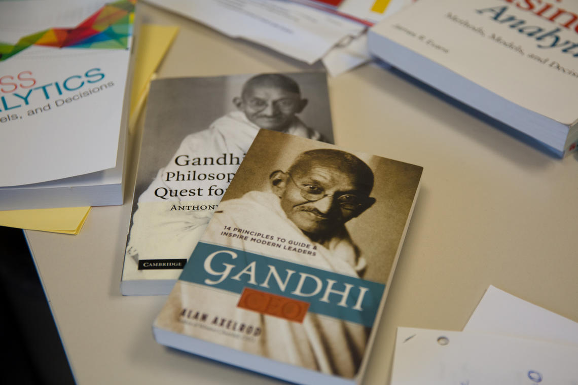 Books on Ghandi's outlook.