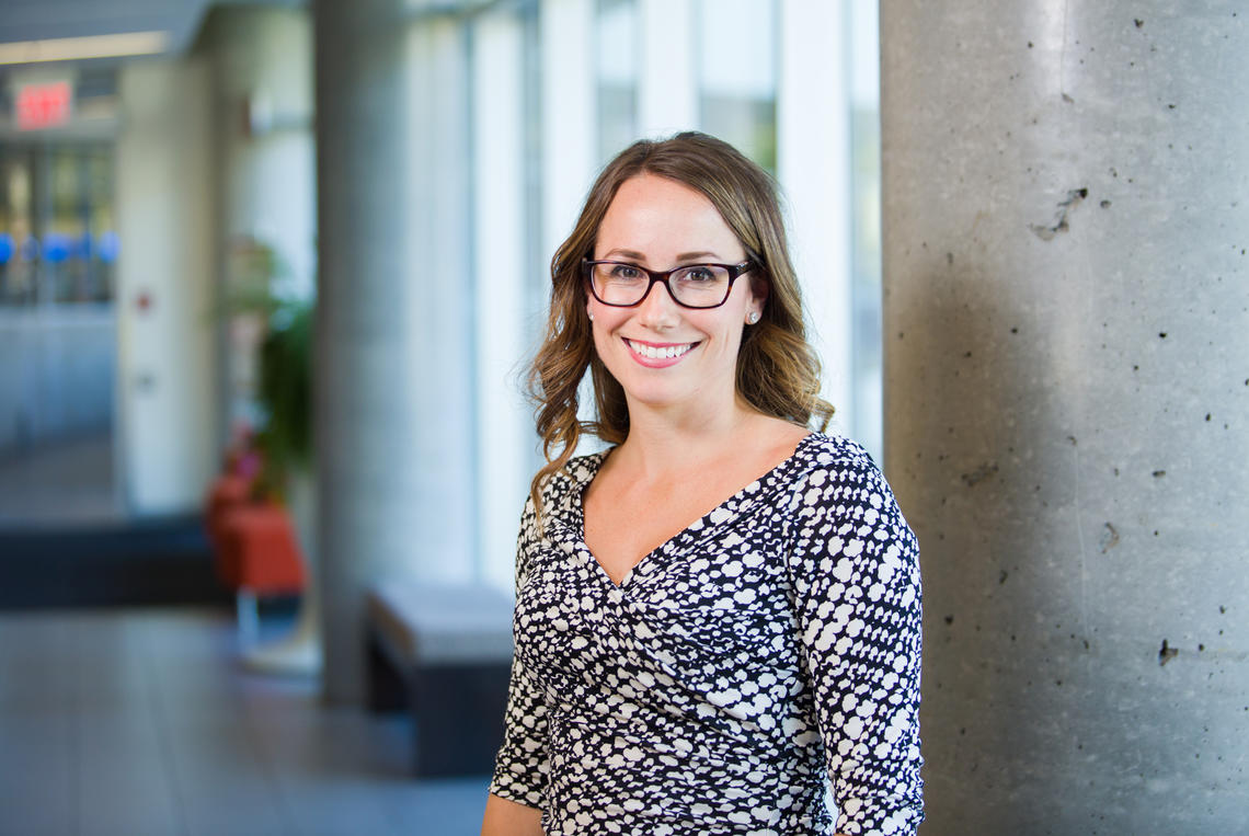 Justine Dowd, health psychology researcher in the Faculty of Kinesiology at the University of Calgary, created the MyHealthyGut app to help consumers follow and monitor a gluten-free diet more easily.
