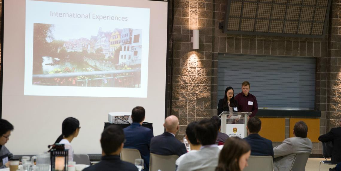 Jonathan Hodges and Meiting Lai present their experience with the summer program in Stuttgart, Germany.