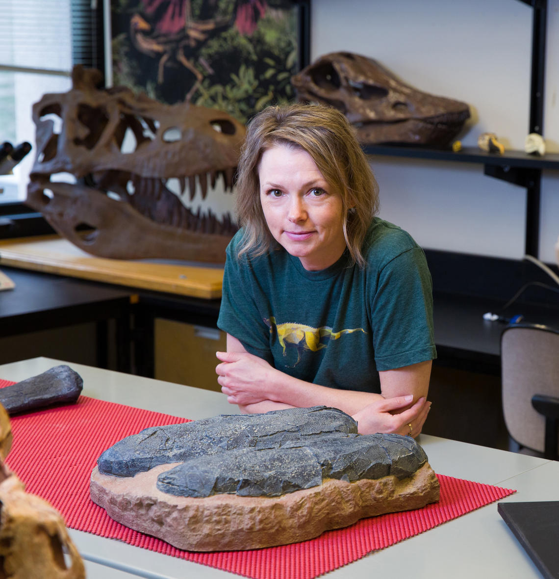 University of Calgary dinosaur paleontologist Darla Zelenitsky is part of an international team that discovered the infamous fossil Baby Louie is from a new species of giant bird-like dinosaur — which tended to enormous nests bigger than a monster truck tire — in Henan, China.
