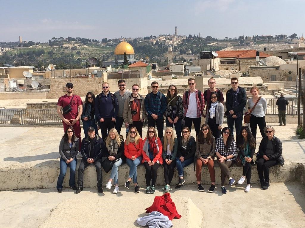 Master's students in The School of Public Policy travelled to Israel in February for the Multi-Faces of Israel course, to gain international perspective from leaders and industry innovators there.