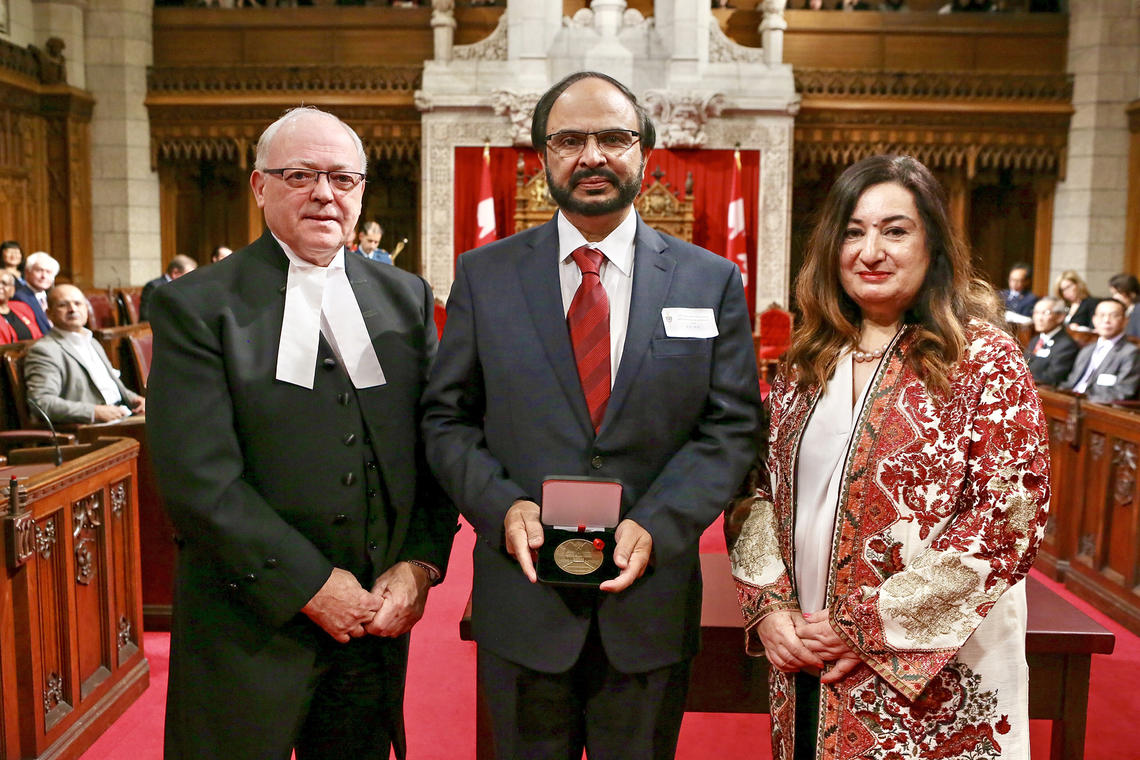 From left: Speaker of the Senate George J. Furey, University of Calgary professor Naweed Syed, and Senator Salma Ataullahjan.