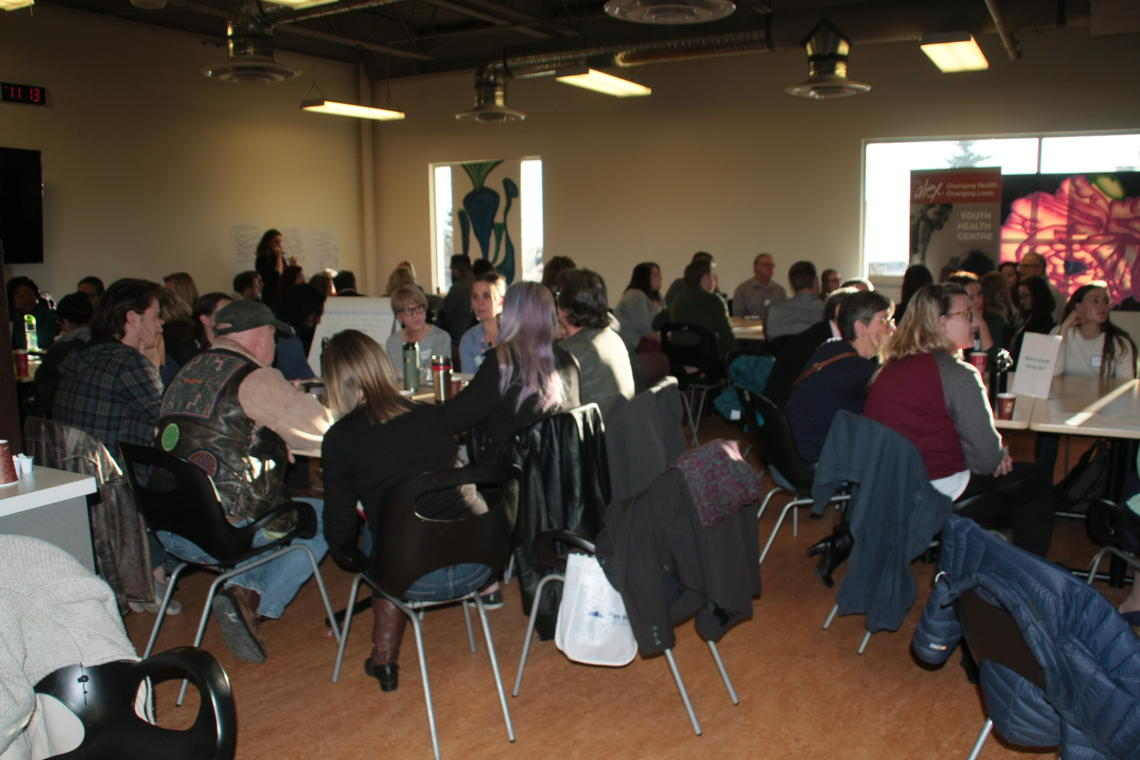 The town hall was put on for the Calgary Allied Mobile Palliative Program (CAMPP), a small team of health professionals who deliver dignified, end-of-life care to vulnerable populations.