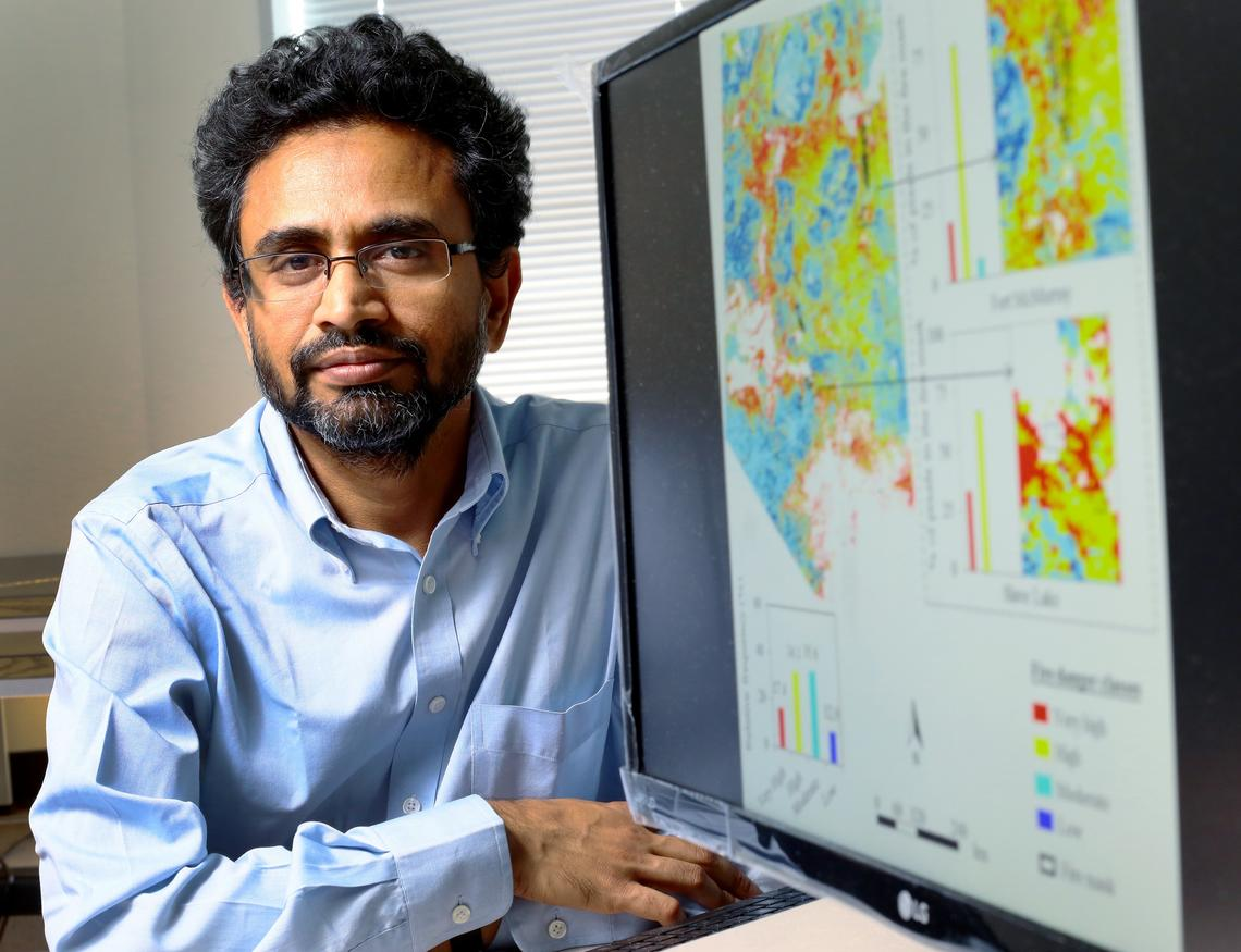 Results from University of Calgary engineer Quazi Hassan's initial research have led the Natural Sciences and Engineering Research Council of Canada (NSERC) to renew his funding to continue his multi-year research into forecasting where forest fires might strike.