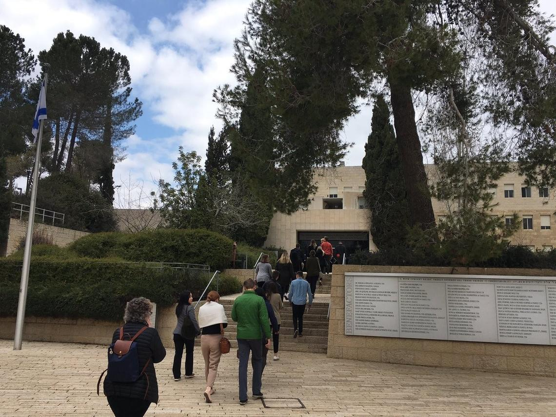 Students tour Yad Vashem in Jerusalem: the world centre for Holocaust research, documentation, education and commemoration.