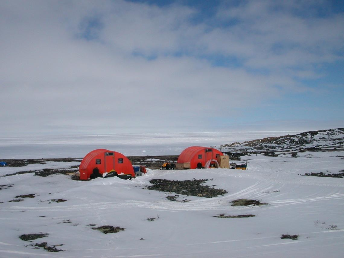 A field camp near Churchill during previous collaborative studies conducted by the universities of Manitoba and Calgary.