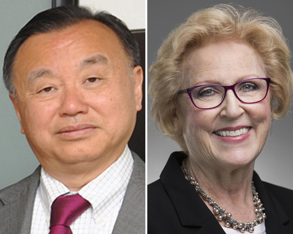 Chen Fong and Susan Marks.