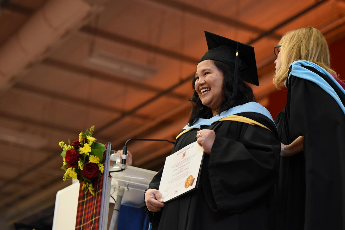 Sue Mylde, who has a degree from the London School of Economics, added a University of Calgary Bachelor of Education degree to her credentials this June.