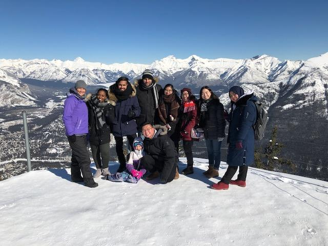 UCalgary Nursing students and guests on a day trip to the mountains.