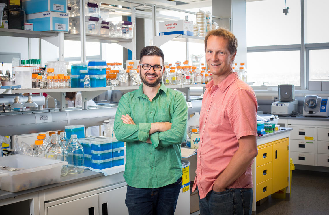 University of Calgary scientists Casey Hubert, left, and John Yackel, along with Brent Else, will collaborate with about 170 researchers from universities, government departments and private-sector partners.