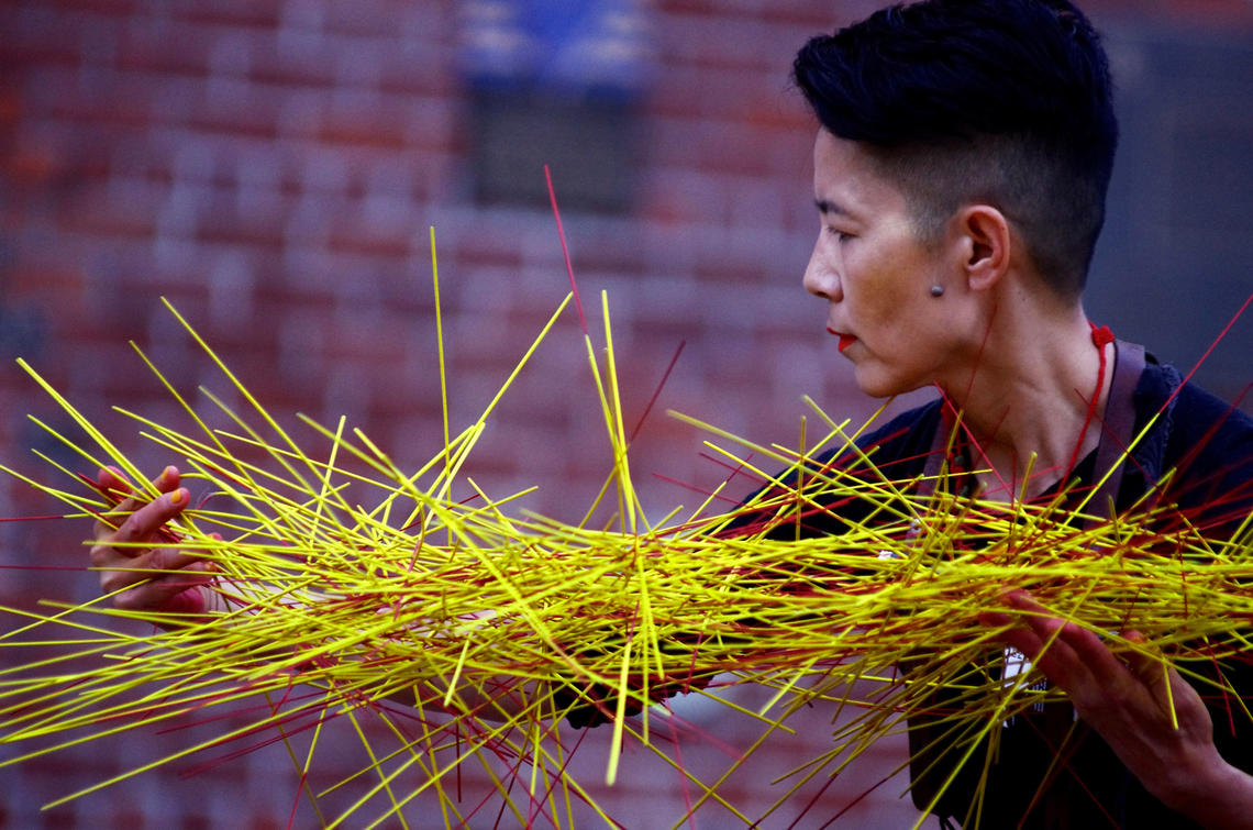 Vancouver-based choreographer, performer, and dramaturge Lee Su-Feh will give a free performance of EVERYTHING II on the Riverwalk Plaza in East Village.