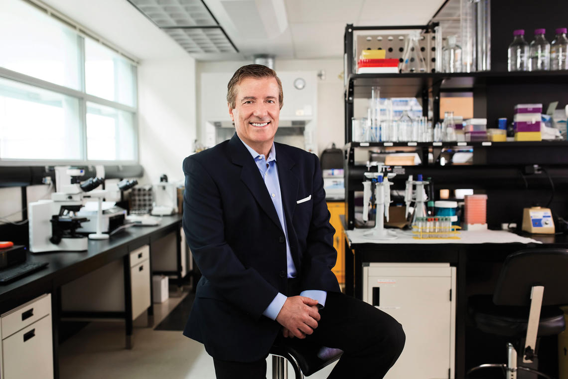 The Cumming School of Medicine is named in honour of Geoffrey Cumming, a University of Calgary alumnus, whose donation of $100 million to further medical research and innovation is being matched by the Government of Alberta.