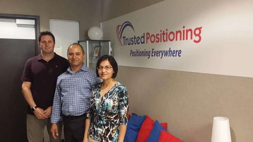 Trusted Positioning's founders, from left: Chris Goodall, Naser El-Sheimy and Zainab Syed.