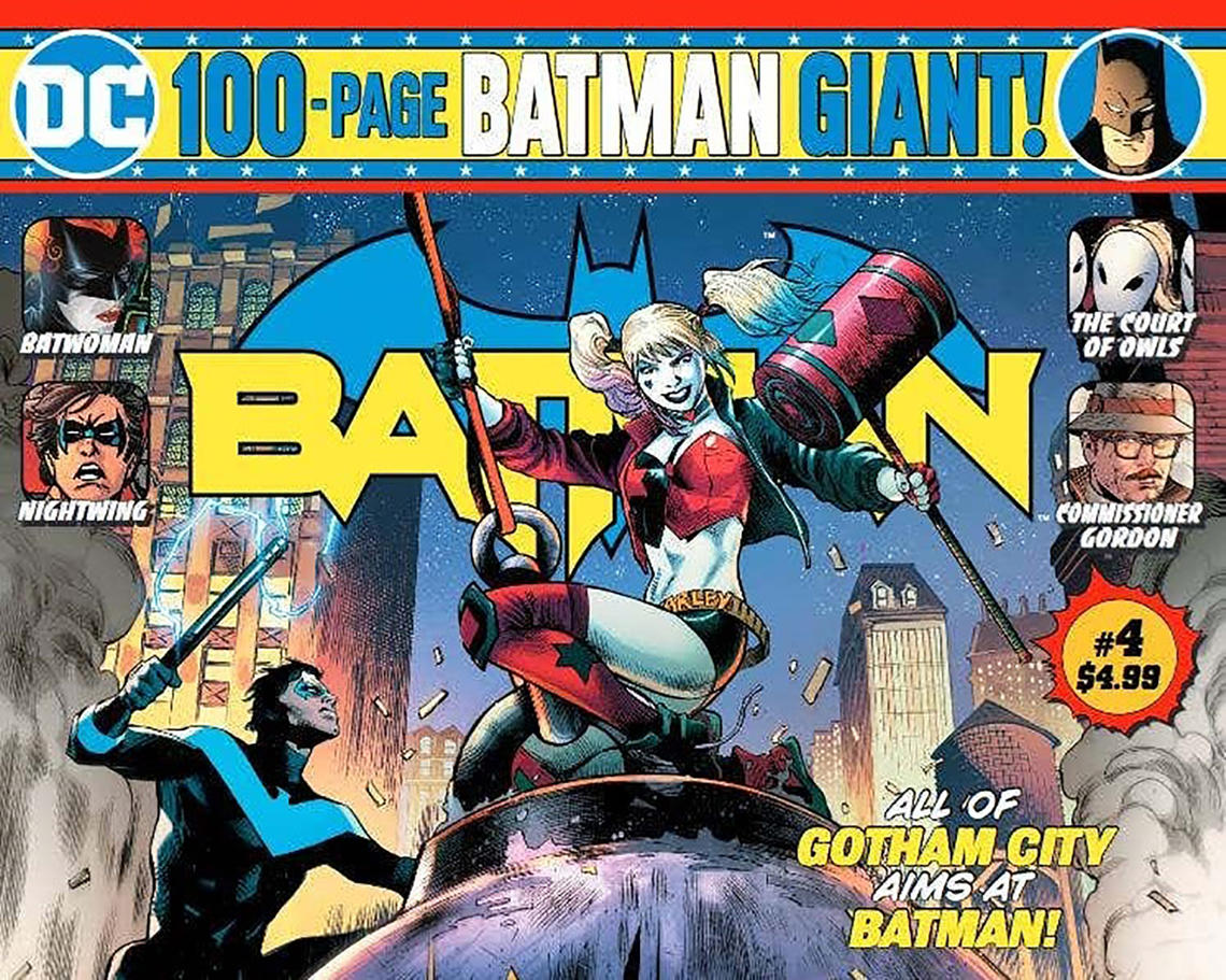 Cover of Batman Giant #4, which was expected in stores this April 1, 2020.