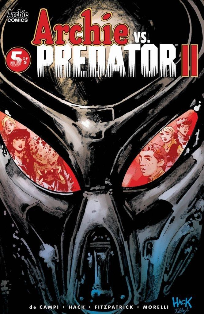 The front cover of an edition of 'Archie vs. Predator II.'