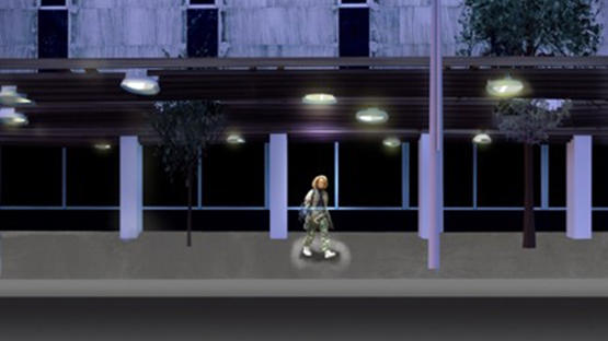 Render sequence showing responsive lighting