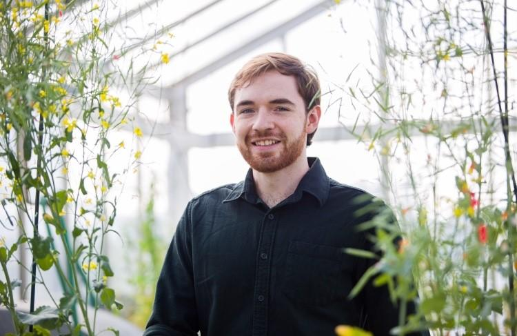 Neil Hickerson, pictured in the Faculty of Science greenhouse.