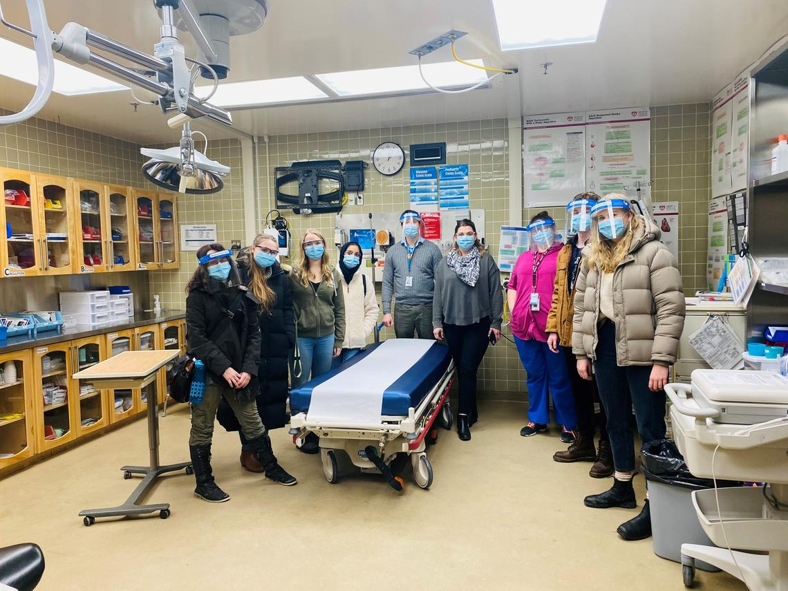 Term 8 UCalgary Nursing students in trauma room in Fort Vermillion.