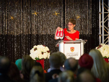 Students, faculty, and staff attend the annual President's Holiday Celebration on December 3, 2018