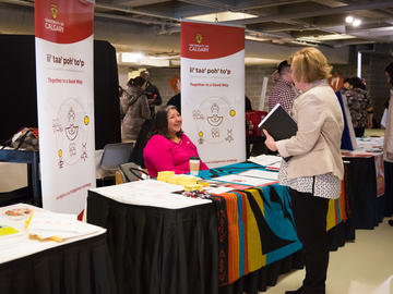 University of Calgary students, faculty, and staff participate in the wellness fair at the third anniversary of the launch of the Campus Mental Health Strategy