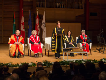 The University of Calgary confers an honorary degree, Doctor of Laws, honoris causa, to His Highness the Aga Khan during a special ceremony on Wednesday, October 17, 2018