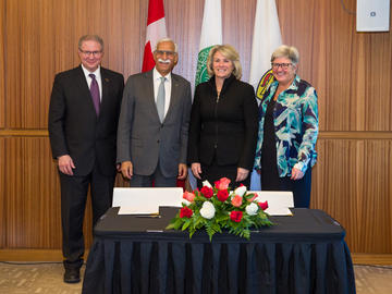 The University of Calgary and the Aga Khan University sign a Memorandum of Understanding on Wednesday, October 17, 2018.