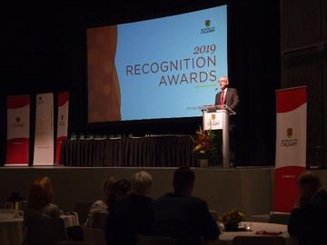 To kick off the awards, President Ed McCauley highlighted the importance of recognizing greatness, ambition and exceptional contributions made to the University of Calgary.