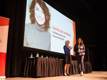 Cecilia de la Rocha —director of faculty development at Werklund in Development and Alumni Engagement —was nominated in the Collaboration and Communication category.