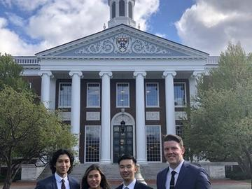 A team of four undergraduate students travelled to Harvard University to participate in the Global Case Competition where they presented a finance-based strategy on autonomous and electric vehicles.