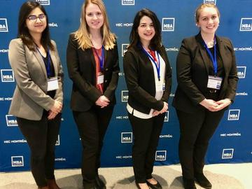 Haskayne sent a crew of MBA students to the corporate responsibility challenge at HEC Montreal earlier this year. The challenge focuses on sustainability, corporate social responsibility and environment.
