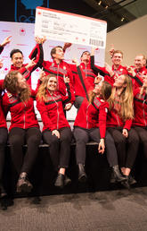 Canada announced the long track speedskating team nominated to compete at the 2018 Olympic Winter Games in Pyeongchang, South Korea. Photos by Riley Brandt, University of Calgary