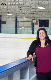 Amanda Black, a Kinesiology student who specializes in sport-related concussions, is completing her PhD.