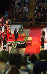 A University of Calgary convocation ceremony begins. Photos by Riley Brandt, University of Calgary