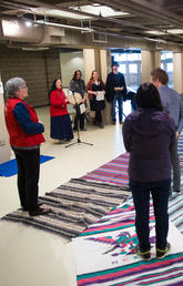During Diversity Week 2017 at the University of Calgary, the Native Centre hosted Blanket Exercise, an interactive learning experience. Photo by Riley Brandt, University of Calgary
