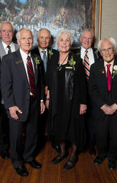Top 7 Over 70 recipients, from left: Amin Ghali, Al Muirhead, Gerry Miller, Don Seaman, Vera Goodman, Alan Ferguson, Richard Guy, and Marjorie Zingle. Photo by Christina Ryan, for Top 7 Over 70
