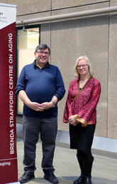 The University of Calgary's David Hogan and Ann Toohey put forth the application to join the Age-Friendly University global network in an effort to make UCalgary more hospitable to an aging population. Photo by Brittany DeAngelis, O'Brien