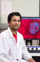 University of Calgary's Mokarram Hossain says his research, if successful, could lead to a new treatment for  colorectal cancer liver metastasis that could be used alongside chemotherapy and immunotherapy. Photo by Riley Brandt, University of Calgary