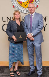 President and Vice-Chancellor Ed McCauley celebrated the ninth cohort to complete ULead, including Heather MacIntosh